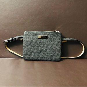 Michael Kors White Leather Crossbody Bag